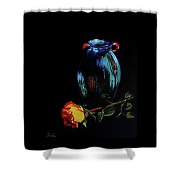 Azure Amphora Vase  Shower Curtain