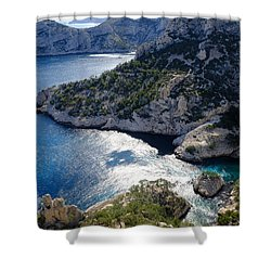 Azure Calanques Shower Curtain