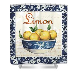 Azure Lemon 3 Shower Curtain by Debbie DeWitt