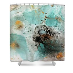 Shower Curtain featuring the painting Azure Waters By V.kelly by Valerie Anne Kelly