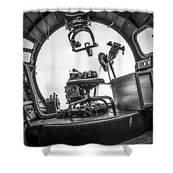 B-17 Bombardier Office Shower Curtain