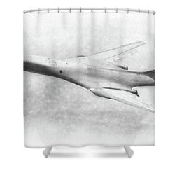 B-1b Lancer Shower Curtain by Douglas Castleman