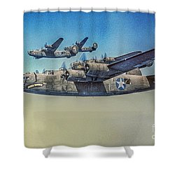 B-24 Liberator Bomber Shower Curtain
