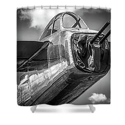 B-25 - Bw Series Shower Curtain