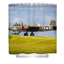 B-25 Landing Original Shower Curtain