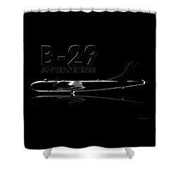 B-29 Superfortress Shower Curtain by David Collins