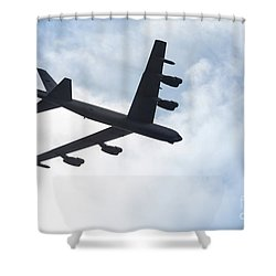 B-52 Flyover Shower Curtain