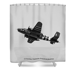 B-25 Mitchell Bomber Shower Curtain