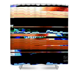 Shower Curtain featuring the digital art b by Ann Johndro-Collins