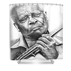 B B King Shower Curtain by Murphy Elliott