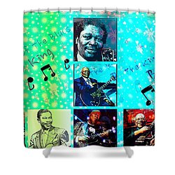 B B King Of The Blues  Shower Curtain