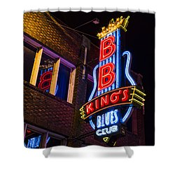 B B Kings On Beale Street Shower Curtain