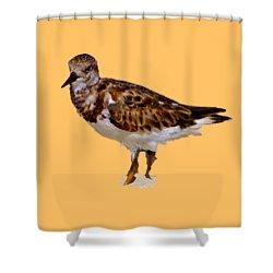 Shower Curtain featuring the digital art B Bird by Francesca Mackenney