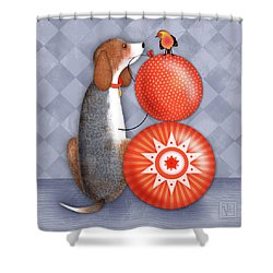 B Is For Beagle Shower Curtain