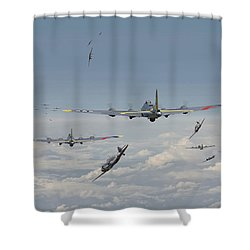 B17 Series - Hard Road Home Shower Curtain by Pat Speirs