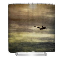 B24 In Flight Shower Curtain