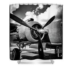 B25 Radial Engine Shower Curtain