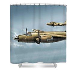 B26 Mk Shower Curtain by Daniel Uhr