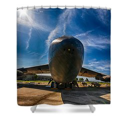 Shower Curtain featuring the photograph B52 by Jay Stockhaus