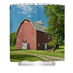 Shower Curtain featuring the photograph Babcock Barn 2259 by Guy Whiteley
