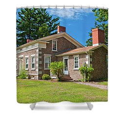 Shower Curtain featuring the photograph Babcock House Museum 2250 by Guy Whiteley