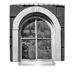 Shower Curtain featuring the photograph Babcock Window 2273 by Guy Whiteley