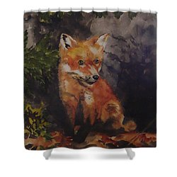 Babe In The Woods Shower Curtain by Jean Blackmer