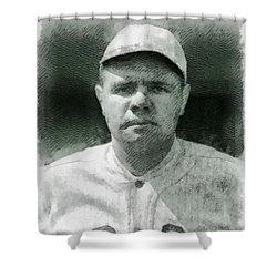 Babe Ruth, Baseball Player Shower Curtain
