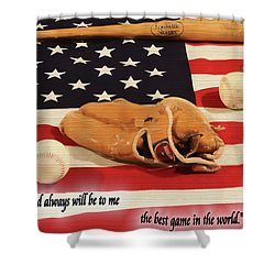 Babe Ruth Baseball Quote Shower Curtain by Dan Sproul