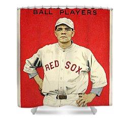 Babe Ruth Cracker Jack Card Shower Curtain