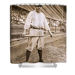 Babe Ruth On Deck Shower Curtain