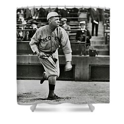 Babe Ruth - Pitcher Boston Red Sox  1915 Shower Curtain by Daniel Hagerman