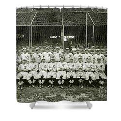 Babe Ruth Providence Grays Team Photo Shower Curtain
