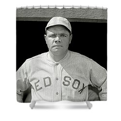 Babe Ruth Red Sox Shower Curtain