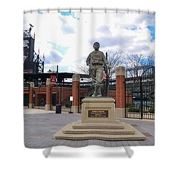 Shower Curtain featuring the photograph Babes Dream - Camden Yards Baltimore by Bill Cannon