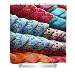 Shower Curtain featuring the photograph Babouches by Ramona Johnston