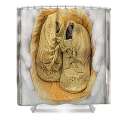 Baby Basket Shoes Shower Curtain