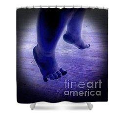 Baby Blu Dancing Royal Feet Shower Curtain