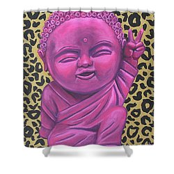 Shower Curtain featuring the painting Baby Buddha 2 by Ashley Price