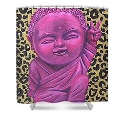 Baby Buddha 2 Shower Curtain by Ashley Price