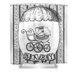 Baby Carriage Shower Curtain by Adam Zebediah Joseph