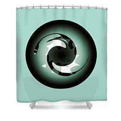 Baby Dragon Shower Curtain by Krzysztof Spieczonek