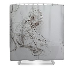 Baby, Drawing With Mother Shower Curtain