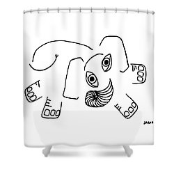Baby Elephant Shower Curtain by Sarah Loft