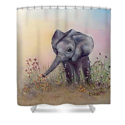 Baby Ellie  Shower Curtain