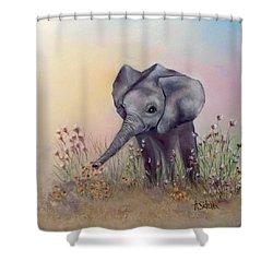 Baby Ellie  Shower Curtain