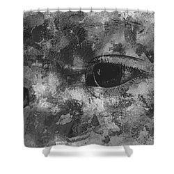Baby Eyes, Black And White Shower Curtain