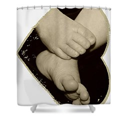 Baby Feet Shower Curtain by Ellen O'Reilly