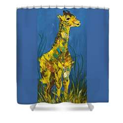 Baby Giraffe  Shower Curtain by Catherine Jeltes