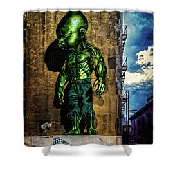 Shower Curtain featuring the photograph Baby Hulk by Chris Lord